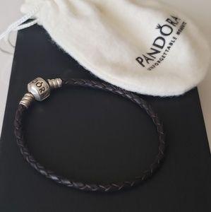 Authentic PANDORA Leather Cord Bracelet